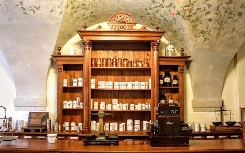 Wnętrze Muzeum Farmacji